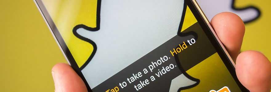 communication sur Snapchat